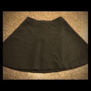 Ann Taylor LOFT Black Skater Skirt A-line Lined 4